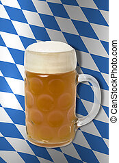 Bavarian Oktoberfest beer glass
