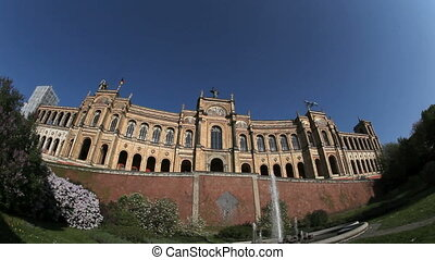 Bavarian Parliament in fisheye perspective