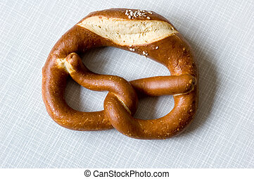 pretzel - bavarian pretzel on resopal background with view ...
