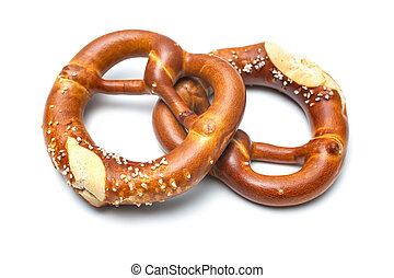 Bavarian pretzels - Appetizing bavarian pretzels isolated on...