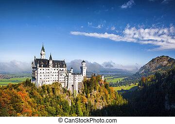 baviera, castillo de neuschwanstein, alemania