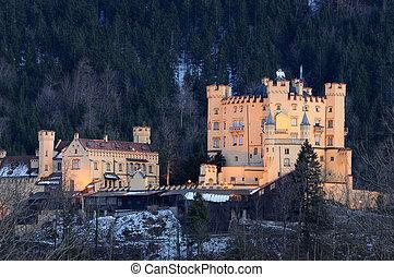 baviera, castillo, hohenschwangau, alemania
