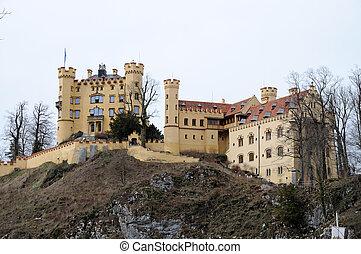 baviera, hostoric, castillo, hohenschwangau, alemania