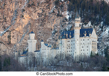 baviera, neuschwanstein, asombroso, alemania, castillo