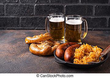 bavorák, preclík, strava, pivo