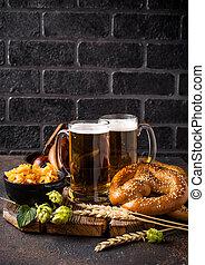 bavorák, strava, pivo, preclík