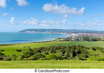 Shanklin and Sandown Isle of Wight - Bay and coastline...