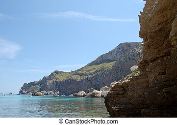 Bay and Headland at Cala Figuera - The bay and headland at...