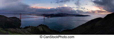 Bay Area at dusk