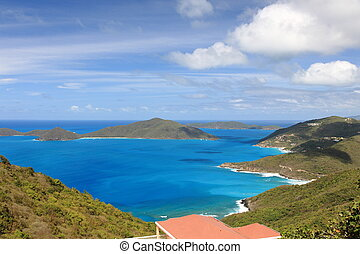 Bay at northern Tortola, British Virgin Islands
