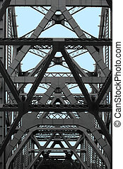 Bay Bridge abstract - Details of Bay Bridge in San...