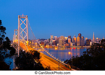 San Francisco - Bay Bridge and San Francisco downtown