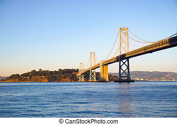 Bay Bridge at sunset, San Francisco
