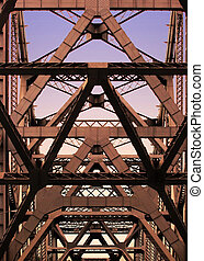 Bay Bridge - Details of Bay Bridge in San Francisco,...