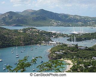 Bay in Antigua in the Caribbean