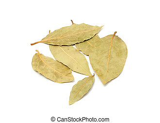 Bay Leaves - Dried bay leaves isolated on a white background...