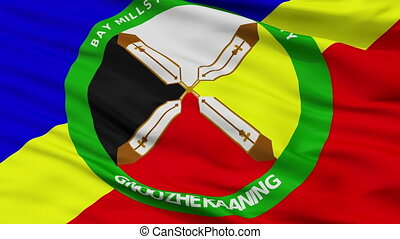 Bay Mills Community Indian Flag Closeup Seamless Loop - Bay...