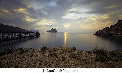Bay of Hornillo at Aguilas, Murcia on the Costa Calida