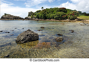 Bay of Island New Zealand - Roberton Island - Landscape view...