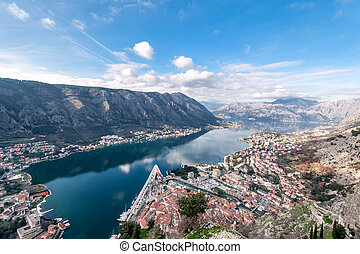 Bay of Kotor, Montenegro. Boka kotorska. - View of Bay of...