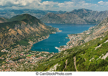 Bay of Kotor with bird's-eye view