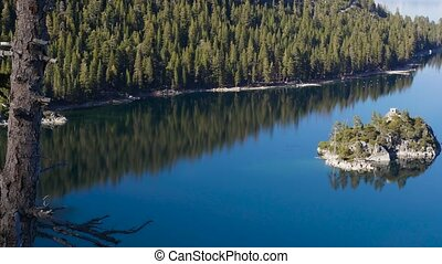 Bay of the Lake Tahoe - Beautiful bay of the Lake Tahoe,...