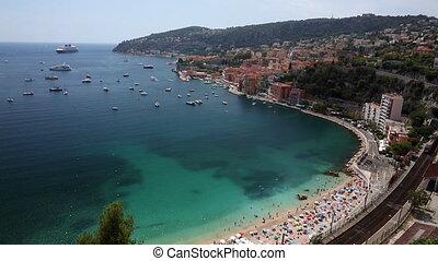 Bay of Villefranche Sur Mer, Cote d'Azur, France - 1080P...