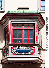 Bay Window - The Renovated Facade of the Old Swiss House...
