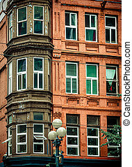 Bay Windows on Red Brick
