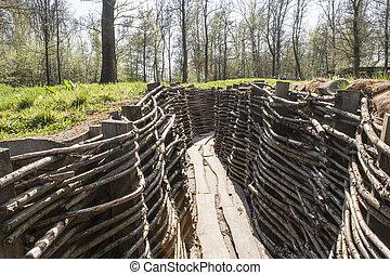 bayernwald, trenches, 1(人・つ), フランダース, ベルギー, 世界, 戦争
