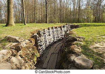 Bayernwald wooden trench of world war 1