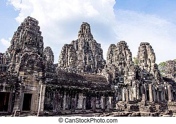 bayon, angkor thom, カンボジア, 寺院