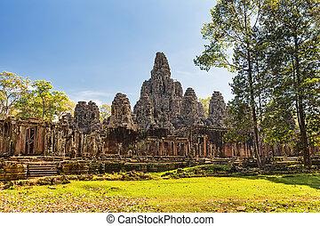 Bayon Temple, Angkor Thom, Siem Reap, Cambodia.