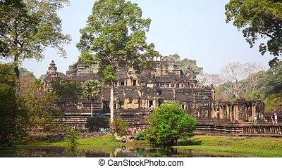 bayon temple, angkor wat - ancient temple in cambodia