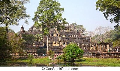 bayon temple, angkor wat - ancient temple in cambodia