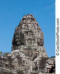 Bayon temple, Siem Reap in Cambodia - The central temple...