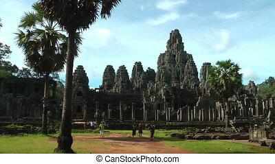 Bayon Temple - Angkor Area, near Siem Reap, Cambodia,...