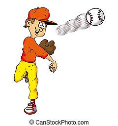 baza, piłka, fastball