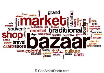 Bazaar word cloud concept