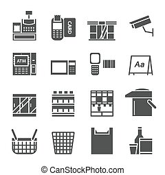 bazarette, équipement, icône
