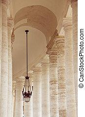 bazilika, naznačit vynést trumf, itálie, st., řím, dórský, vatikán, sloupec