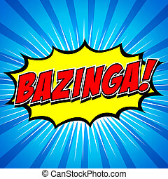 bazinga!, comique, parole, bubble.
