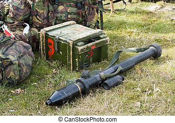 bazooka, på, jord