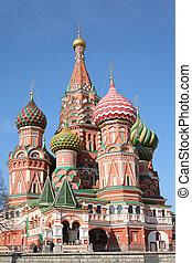 bazsalikom, székesegyház, szt., moszkva