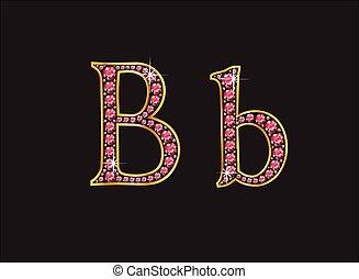 bb, 金, 宝石, 壷, ルビー, チャンネル