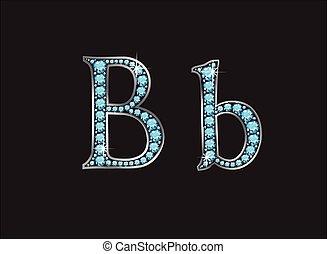 Bb Aquamarine Jeweled Font Jeweled