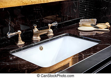 Bbath sink in a bathroom