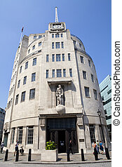 BBC Broadcasting House in London - The art deco architecture...