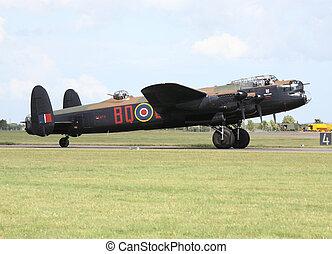avro lancaster - bbmf avro lancaster after landing at raf...