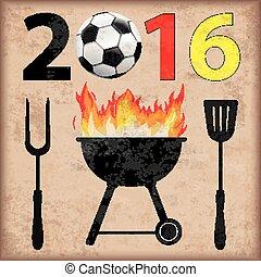 BBQ 2016 Football Germany Vintage